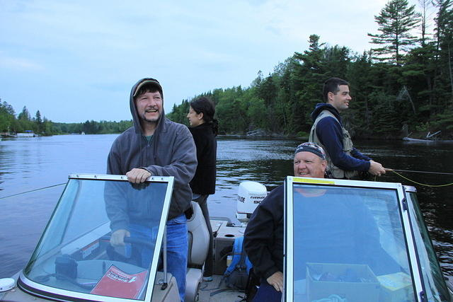 Rockwood June2012 Moose River Fishing on Drift 2